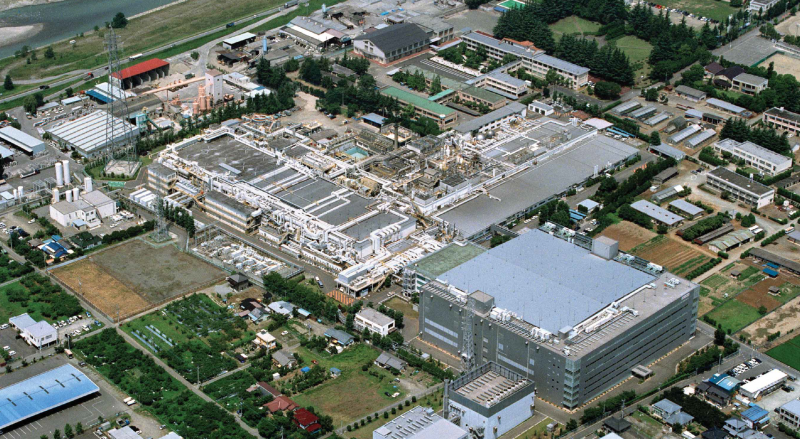 Aerial of the Renesas Technology Campus, Kofu, Japan for sale