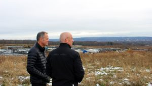 Cree CEO Gregg Lowe at Marcy NY site