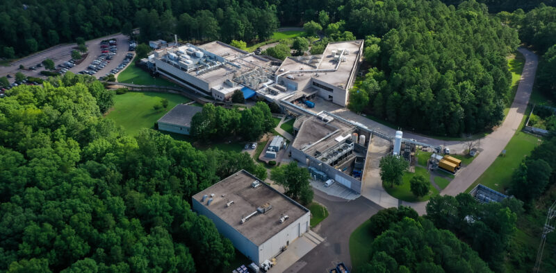 Aerial of Cree's NC fab